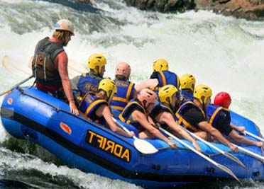 WHITE WATER RAFTING DOWN THE MIGHTY NILE RIVER